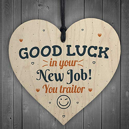 in the Ivy Good Luck Boss Friend Leaving Gift for Colleagues Teacher New Job Signs Novelty Wood Heart Plaque Sign Wall Art Home Bar Pub Sign (Best Of Luck Email To Colleague)