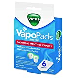 Vicks VapoPads Refill Pads, Menthol - 6 ct, Pack of 3
