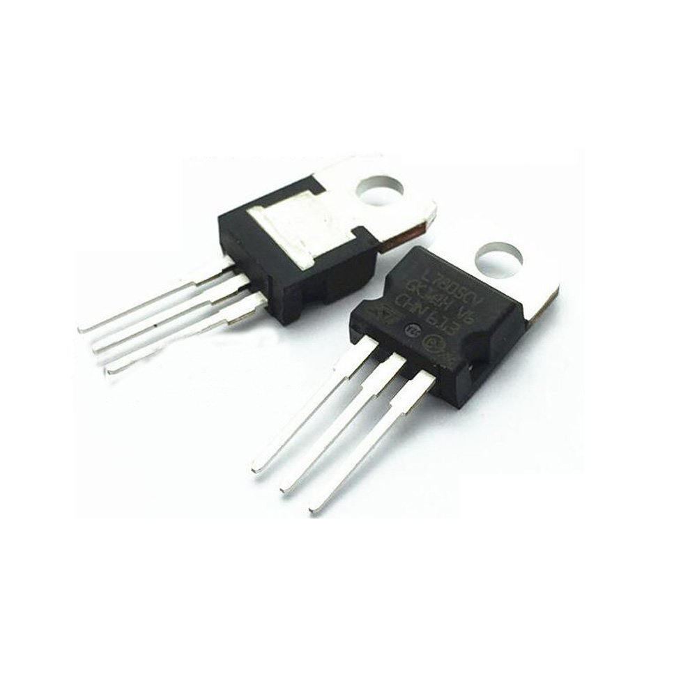 Poilee 10pcs 7805 Voltage Regulator Ic L7805 5v 7805voltageregulator Lm7805 Circuit 15a To 220