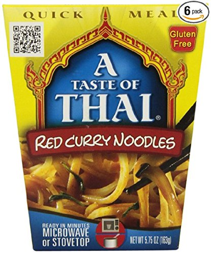 Quick Meal Noodles (A Taste of Thai Red Curry Noodles Quick Meal, 5.75-Ounce Boxes (Pack of 6))