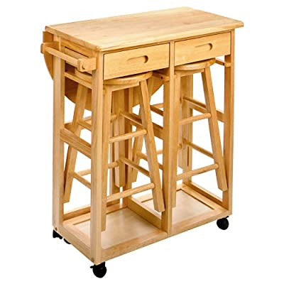 Winsome Space Saver with 2 Stools