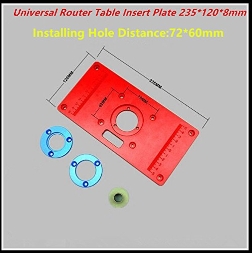 Universal router table insert plate aluminium alloy for diy universal router table insert plate aluminium alloy for diy woodworking engraving machine high quality 2351208 universal greentooth Gallery