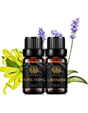 Aromatherapy Lavender Essential Oil Set for Diffuser,2X10ml 100% Pure Ylang Ylang Essential Oil Kit for Humidifier-Ylang Ylang,Lavender Essential Oils Set, Aromatherapy Ylang Ylang Oil, Lavender Oil