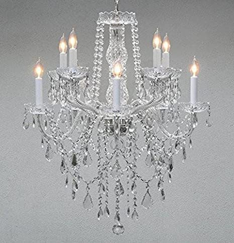 Swarovski crystal lighting Selene Image Unavailable Islandbluescom Swarovski Crystal Trimmed Chandelier Chandelier Lighting Crystal