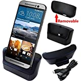 HTC One M8 / M9 Charger, HTC One M8 / m9 Battery Charging Station, AnoKe USB 3.0 Desktop Charging Docking Station Cradle for HTC M8 / HTC M9 Mobile Cell Phone Charger Dock