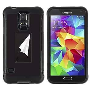 LASTONE PHONE CASE / Suave Silicona Caso Carcasa de Caucho Funda para Samsung Galaxy S5 SM-G900 / Plane Black Freedom Minimalist