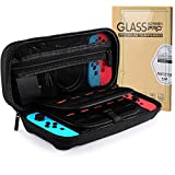 Nintendo Switch Case with 2 Pcak H9 Screen Protector 20 Game Cartridges High-capacity Hard Crary Case Conpatible with Nintendo Switch Portable Travel Carry Case for Switch Console & Accessories