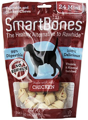 Cheap SmartBones Chicken Dog Chew, Mini, 24-Pack(2Pack)