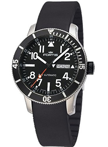 Day Date Automatic Titanium Watch - Fortis Mens Watch B-42 Official Cosmonauts Diver Day/Date Titanium Automatic 647.29.41 K