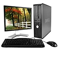 Optiplex 780 Premium Desktop Computer Package (Intel Dual-Core 2.93GHz, 4GB RAM, 250GB HDD, WiFi, Windows 10 Professional, 17in LCD Monitor) (Renewed)