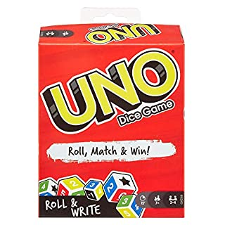 UNO: Dice Game with Dry Erase Boards and Markers, Multicolor