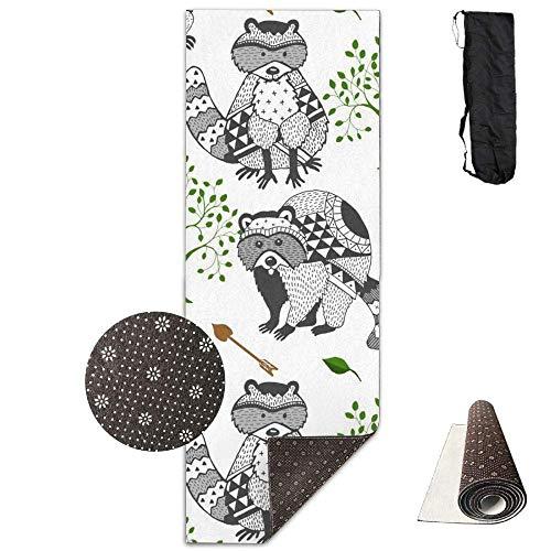 AAA.Yongfugui Raccoon Tree Arrow Tribal,Yoga Towel Exercise Mat Non-Slip High Density Waterproof Yoga Mats Fitness (Tree Triple Tribal)