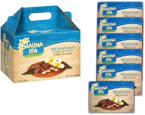 Mauna Loa Milk Chocolate Macadamia Nuts (6 Individually Wrapped Boxes in Carrying Case) ()