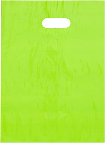 """500 Neon Green 10/""""x14/"""" Mailing Postage Postal Mail Bags"""