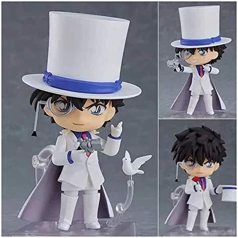 XIAOGING Nendoroid Mini Q Kid The Phantom dief 3.9inches Anime Detective Conan Case Closed Action Figure EP-PVC Character