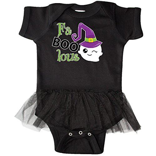 Inktastic - Fabulous Ghost Infant Tutu Bodysuit 6 Months Black