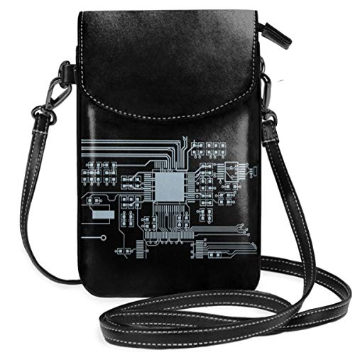(Small Cell Phone Purse For Women Leather Cpu Insides Card Slots Crossbody Bags Wallet With Shoulder Strap)