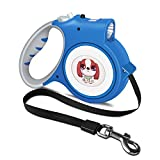 Safky Retractable Dog Leash with Comfortable Padded Handle, Lock &Release Mechanism, 16 ft Dog Walking Training Leash with Nightlight Suitable for Small Dogs Cats Walking, Jogging, Travel
