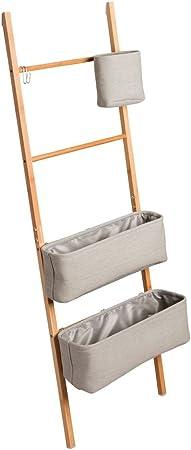 InterDesign Formbu WREN - Escalera autónoma para Almacenamiento en el Cuarto de baño, Color Gris Natural: Amazon.es: Hogar