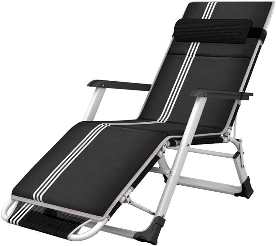 Hxx Silla reclinable reclinable reclinable, reclinable y reclinable para Silla de Ruedas, reclinable y reclinable, con cojín y cojín Desmontable Ajustable, Negro (Color: Silla),B
