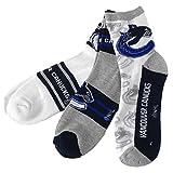 Vancouver Canucks Men's 3-Pack Quarter Socks - Size One Size