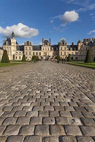 France, Photography, Fontainebleau, Chateau, castle, Ile de France, Royal, Napoleon, paving stones, Europe, Art Print, Wall Art, Gift, Decor, Photo