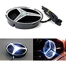 iJDMTOY (1) Xenon White LED Illuminated Base Only For Mercedes A C E R ML GL GLA CLA CLS Class Front Grille (No Emblem Included)