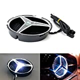 led mercedes emblem - iJDMTOY (1) Xenon White LED Illuminated Base Only For Mercedes A C E R ML GL GLA CLA CLS Class Front Grille (No Emblem Included)