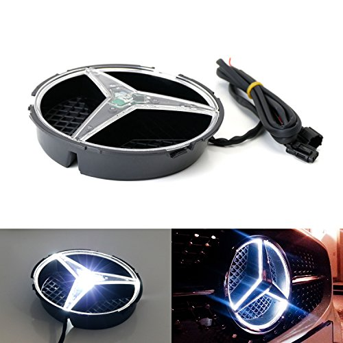 iJDMTOY (1) Xenon White LED Illuminated Base Only For Mercedes A C E R ML GL GLA CLA CLS Class Front Grille (No Emblem - Gl Accessories