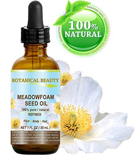 Meadowfoam Seed Oil - MEADOWFOAM SEED OIL 100% Pure / Natural / Refined / Undiluted for Face, Body, Hair and Nail Care. 1 Fl.oz.- 30 ml.
