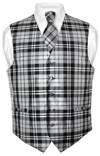 Buy mens plaid dress vests - 2