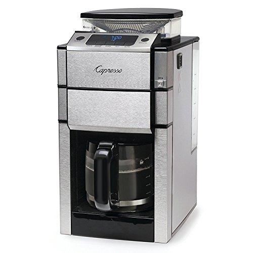 - Capresso 487.05 Team Pro Plus Coffee Maker, Glass Carafe, 12 Cup, Silver