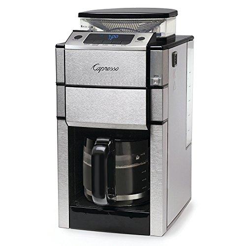 (Capresso 487.05 Team Pro Plus Coffee Maker, Glass Carafe, 12 Cup, Silver)