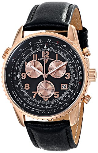 Swiss Legend Men's 30721-RG-01 Skyline Analog Display Swiss Quartz Black Watch