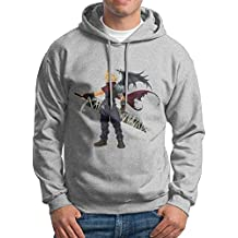 Man Boy Famouse Anime Final Fantasy VII Hooded Pullover