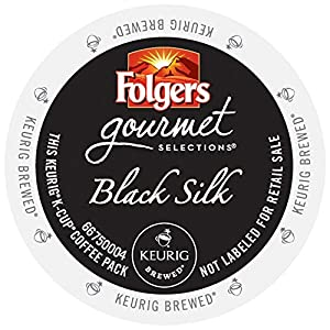 Folgers Gourmet Selections Coffee, Black Silk, for Keurig Brewing Systems (96 count)