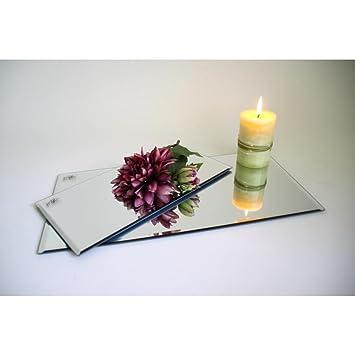 Spiegelplatte Deko.Sandra Rich 12er Set Spiegelplatte Deko Tischspiegel 30x15cm Glas Rechteckig