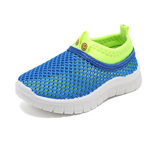 CIOR Kids Light Weight Sneakers AquaShoes Breathable Slip-on For Running Pool Beach Toddler/Little Kid,S633Blue,22 0