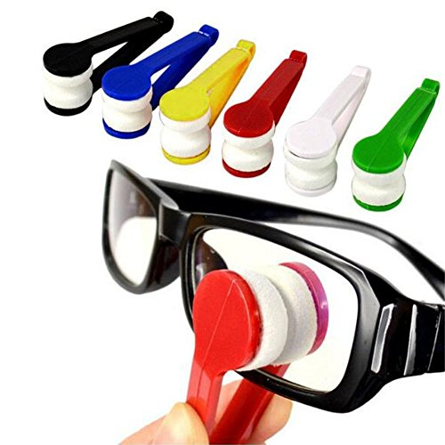 Mini Microfiber Spectacles Cleaner, Eyeglass Sun Glasses Cleaner, Soft Brush Cleaning Tool, Cleaning Clip, Microfiber, Super Light, Mini Size, Easy Use (6 ()