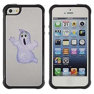 Fuerte Suave TPU GEL Caso Carcasa de Protección Funda para Apple Iphone 5 / 5S / Business Style Funny Ghost