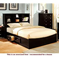 247SHOPATHOME Idf-7053EK Platform-Beds, King, Espresso