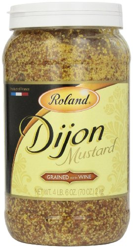 Roland Dijon Mustard, Grained with Wine, 4.6 Pound