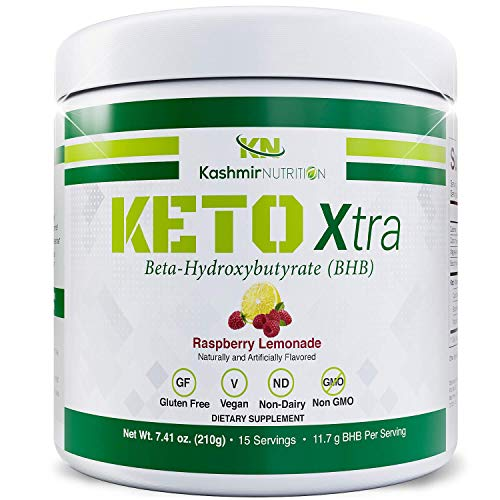 Exogenous Ketones Supplement | Best Flavored Keto Powder with Raw Sucralose | Maintain Ketosis with Keto BHB Salts | Keto Supplement to Increase Endurance and Mental Focus | Raspberry Lemonade