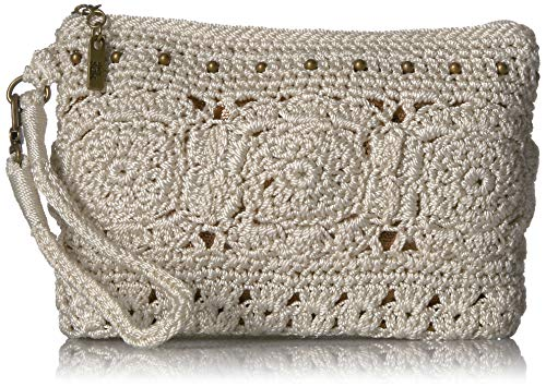 The Sak The Sayulita Crochet Wristlet, Natural Medallion