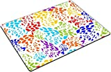 MSD Place Mat Non-Slip Natural Rubber Desk Pads design 34914182 llec Abstract seamless colorful background with irregular splashes in rainbow colors