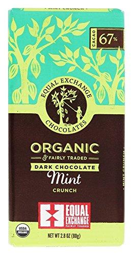 Equal Exchange Organic Dark Chocolate Mint Crunch 80g, 2.8 - Exchange 80 Equal