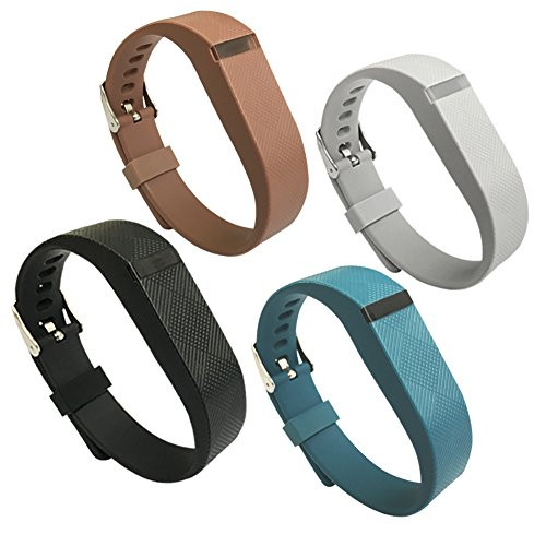 Replacement Wrist Band for Fitbit Flex,Silicon Accessory Wristband with Metal Watch Buckle Design (4colors)
