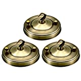 uxcell Retro Ceiling Light Plate Pointed Base Chassis Disc Pendant Accessories 105mmx23mm Bronze Tone w Screw 3pcs
