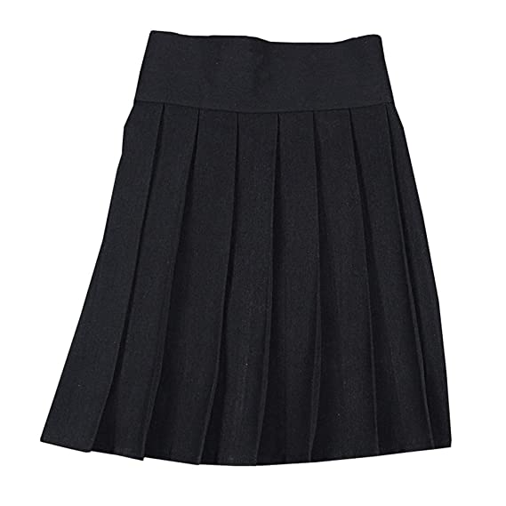 hibote Mini Falda Japonesa Falda Plisada de Cintura Alta con ...
