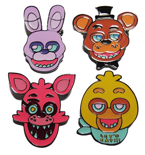 [Five Nights at Freddy's: Bonnie,Freddy,Foxy,Chica Collectible Metal PIN Set] (Fnaf Bonnie Costume)